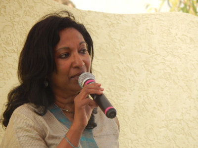 Meena Alexander at Hyderabad Literary Festival 2016